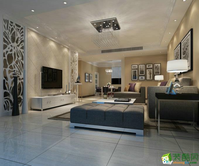 现代简约四居室120平装修效果图