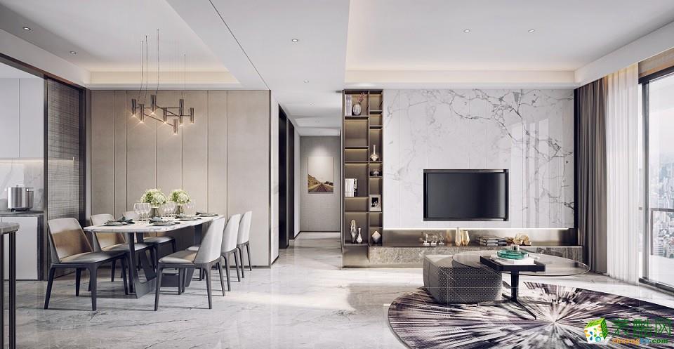 广州120�O现代简约四居室装修效果图