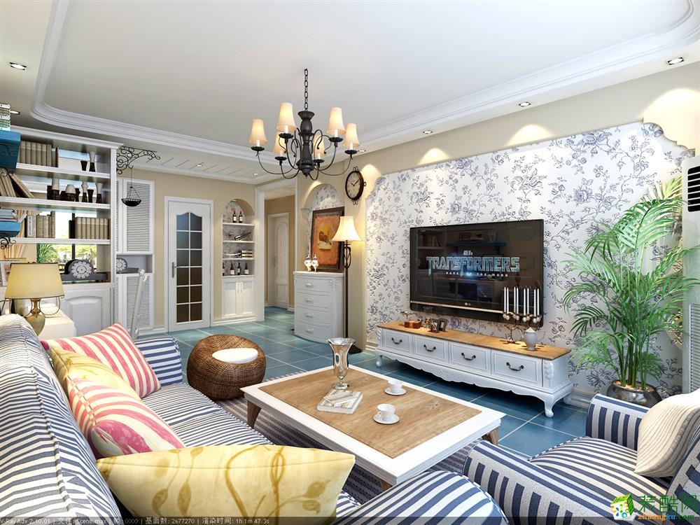 开泰锦城120平米地中海风格三室两厅装修图片