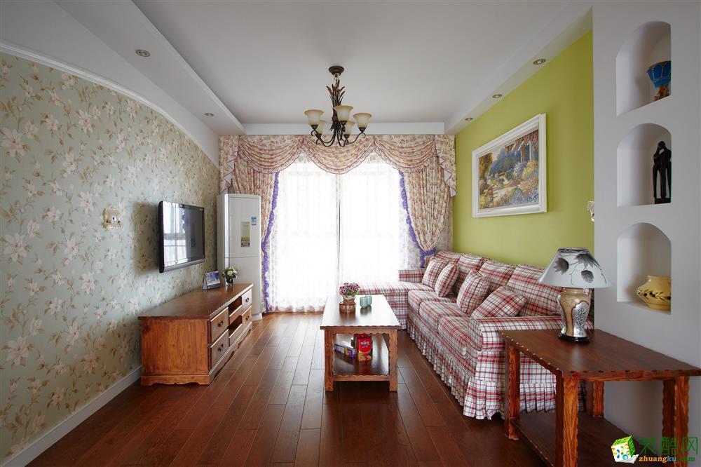 恒大綠洲120平米美式田園三居室裝修效果圖片