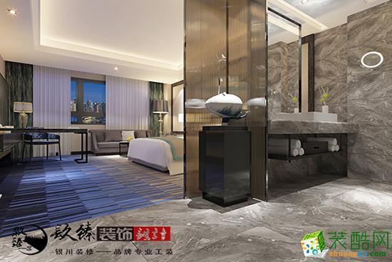 当代艺术的体现|银川酒店大床房装修设计|镹臻装饰