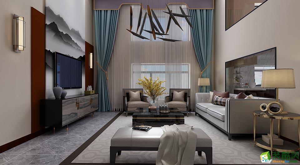 重庆140平米新中式风格跃层住宅翻新案例图片