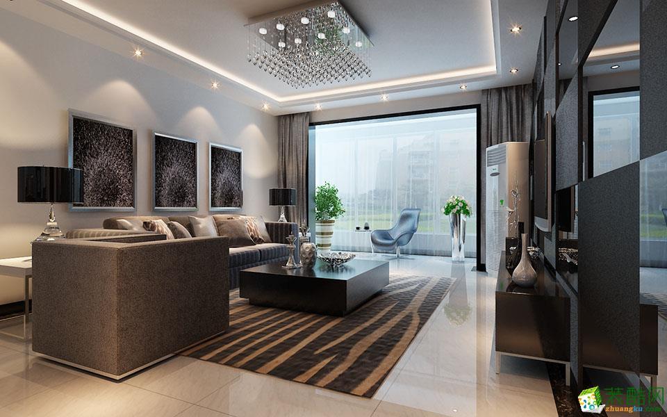 烏魯木齊130㎡后現代風格三居室裝修案例圖片