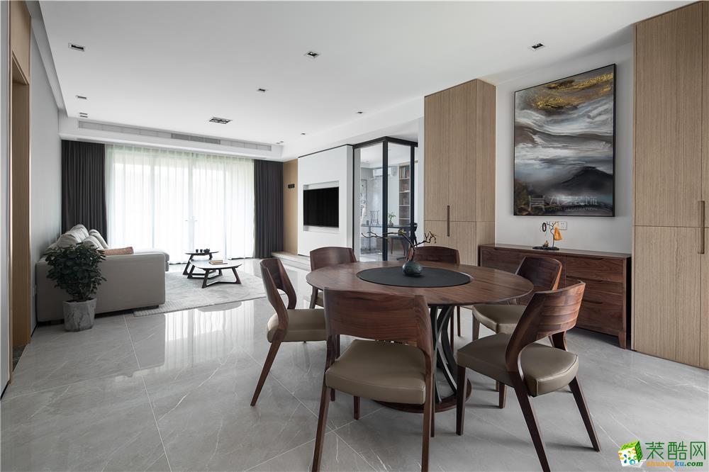广州184�O中式风格四居室装修效果图
