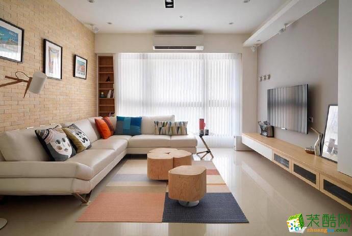 重庆85平米北欧风格三室两厅装修案例效果图片