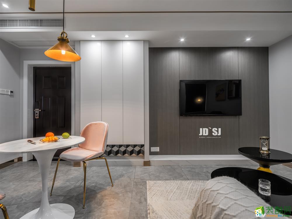 南昌中策装饰-80平两室现代装修案例效果图