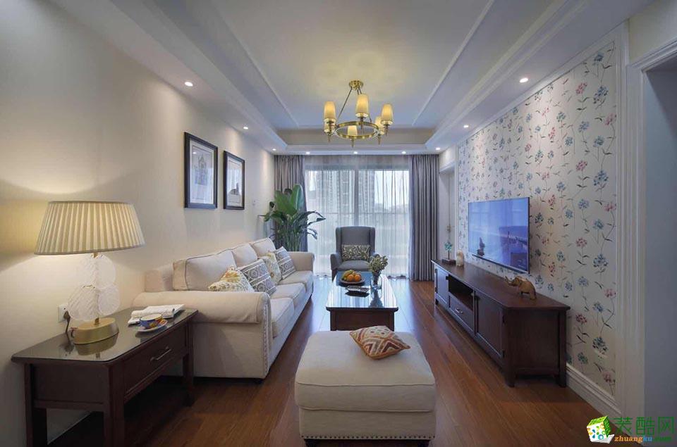海口90平米美式风格两室两厅装修案例效果图片