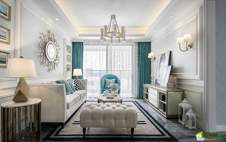 海口120平米简欧风格三居室装修案例效果图片