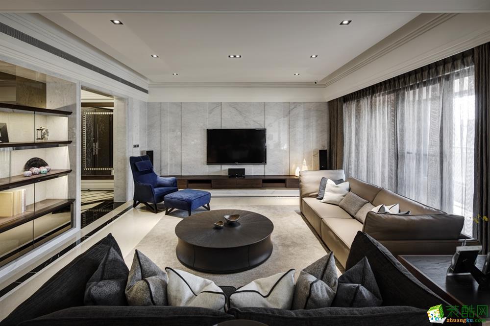 现代四居室185平装修效果图