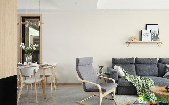 【佳天下装饰】90㎡原木北欧风格家居装修设计