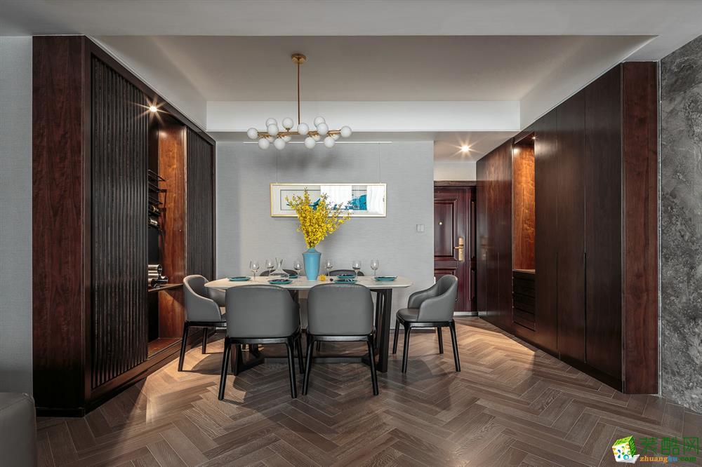 温州123平三室两厅一卫现代风格装修效果图