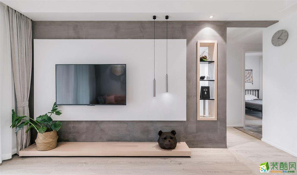 温州107平三室一厅一卫现代简约风格装修效果图