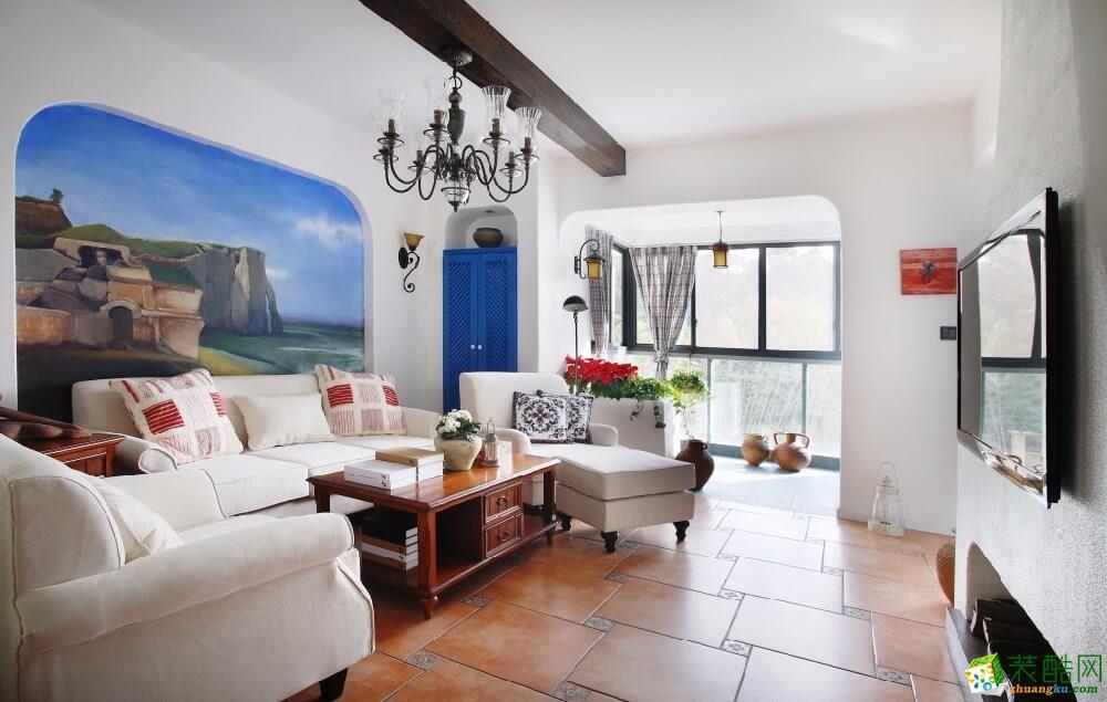重庆120平米地中海三居室旧房翻新案例图片