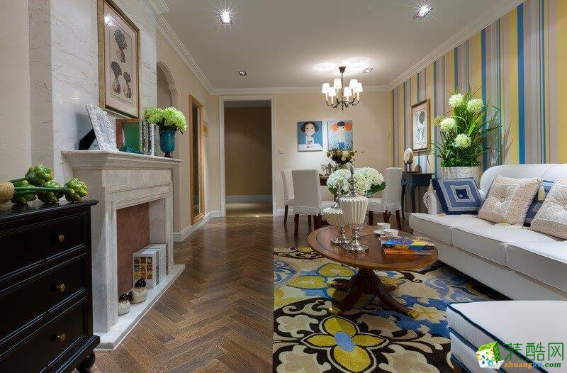乌市110平米地中海风格三居室装修案例图片