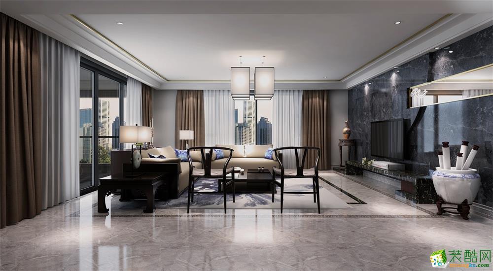 深圳乐城141�O四居室新古典风格装修案例