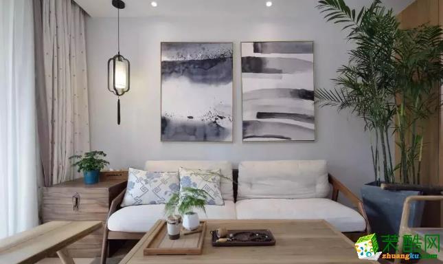 南昌佳林装饰-100平新中式三室装修效果图