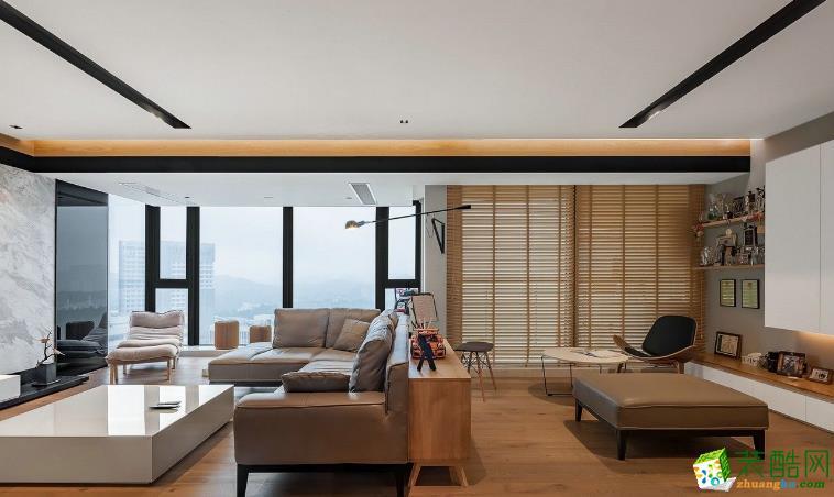 南昌佳林装饰-129平现代大平层装修案例效果图