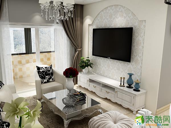 合肥琥珀名郡90�O欧式风格三室一厅设计效果图