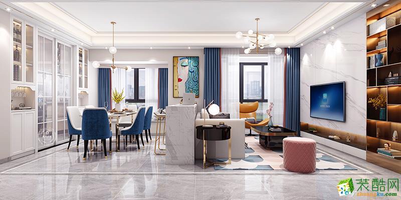天水湖130㎡現代輕奢風格裝修案例