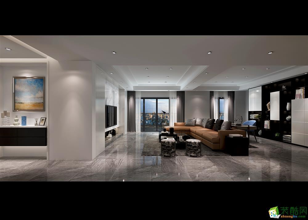 無錫別墅裝修-保利香檳國際302平現代簡約裝修效果圖