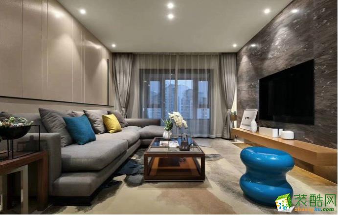 九江99平三室现代风格装修效果图