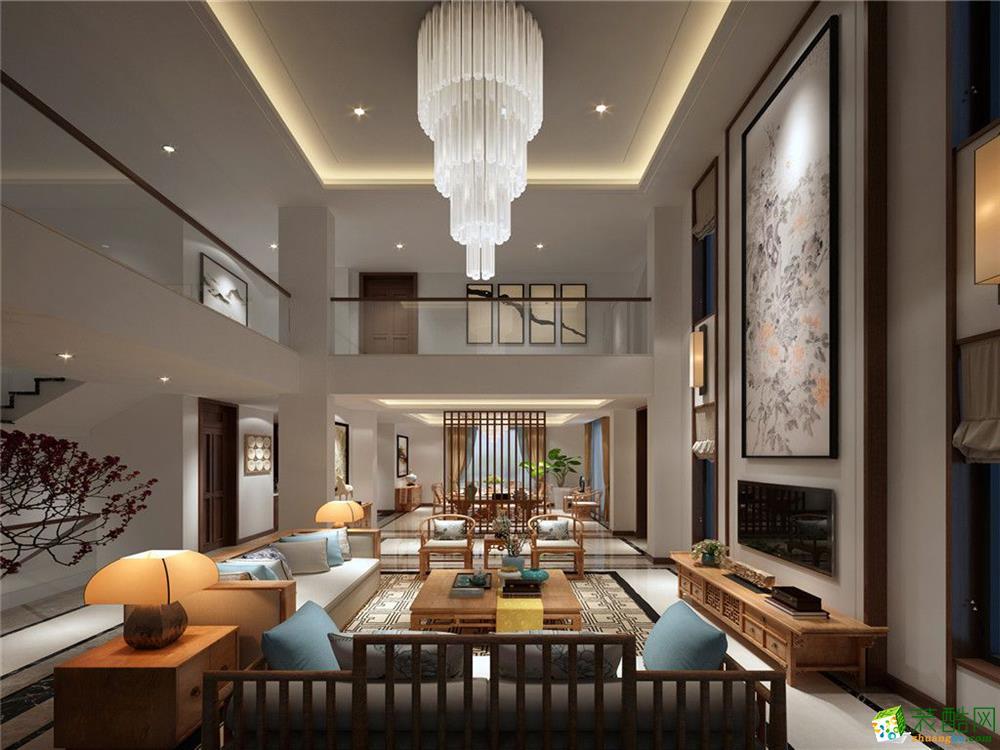成都450平米新中式风格别墅住宅装修案例图片