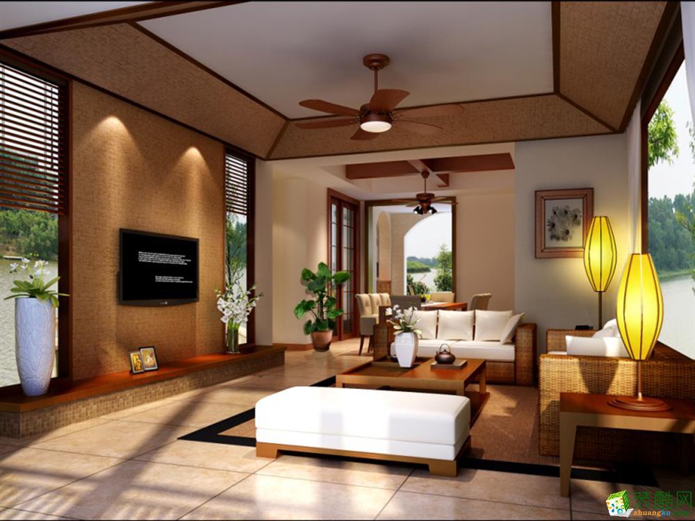 成都230平米東南亞風格別墅裝修案例圖片