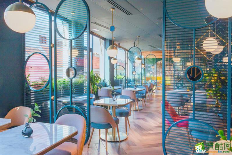 濟南210平米地中海風格主題餐廳裝修效果圖
