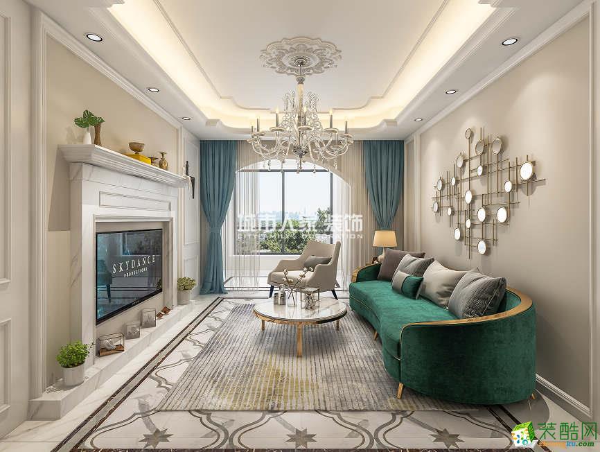 唐頓莊園93平米法式輕奢風格裝修設計