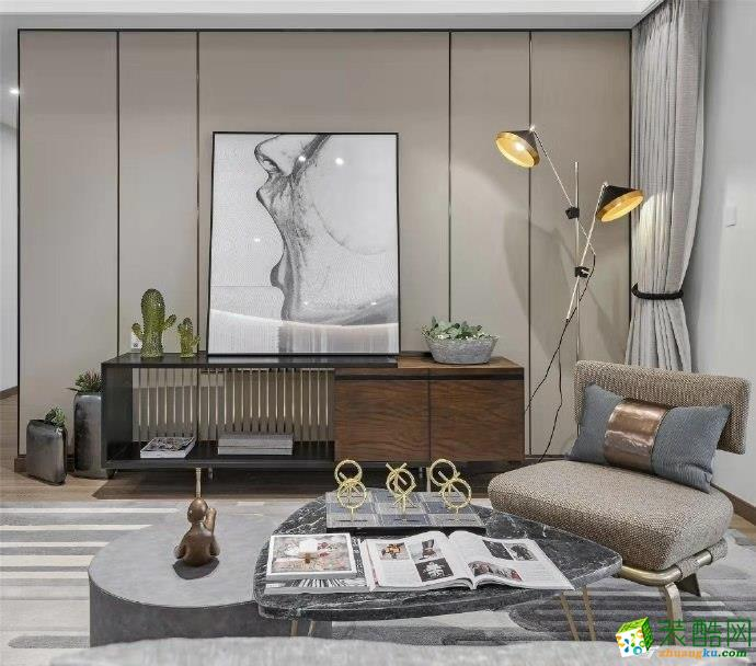 協信攬院136平米簡約風格四居室裝修效果圖片