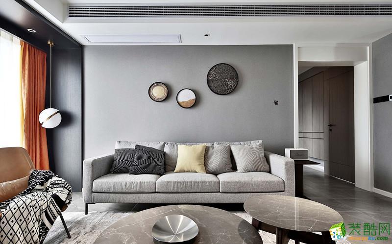 140平现代简约风格三室两厅装修设计效果图