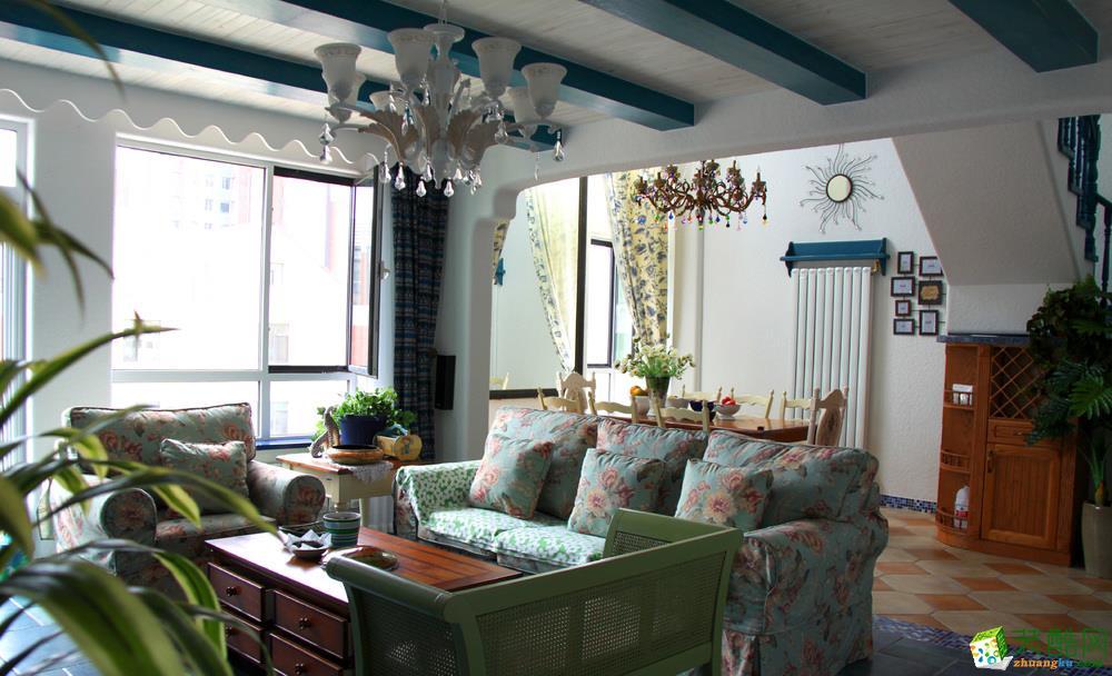 凯德世纪名邸127平米地中海风格四居室装修案例图片