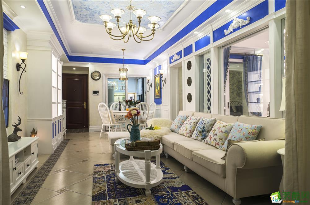 中海云麓世家125平米地中海风格三居室设计案例图片