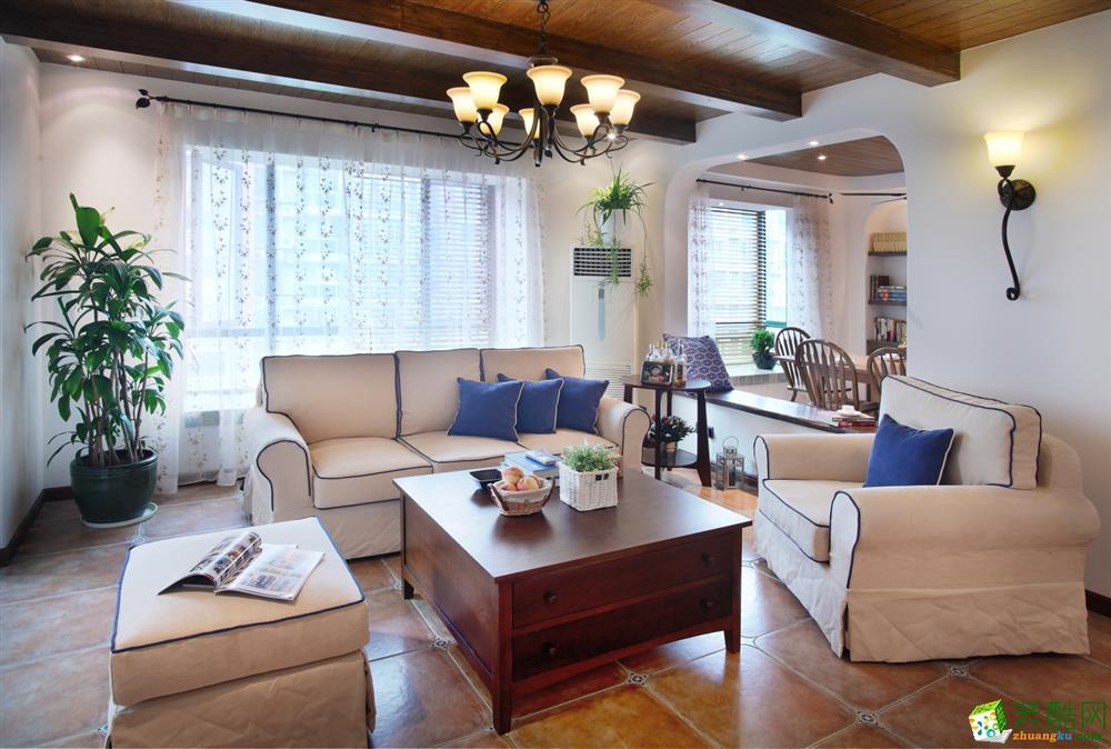 凤凰盛景118平米地中海风格四居室装修案例图片