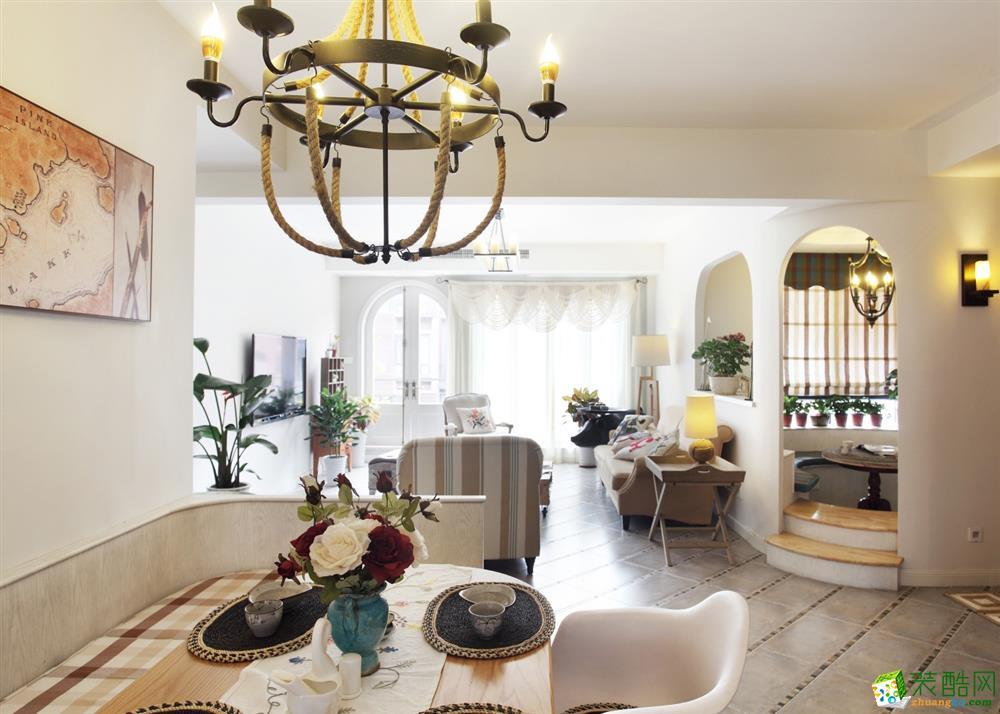 奥园玖俪湾110平米地中海风格两室两厅装修效果图片