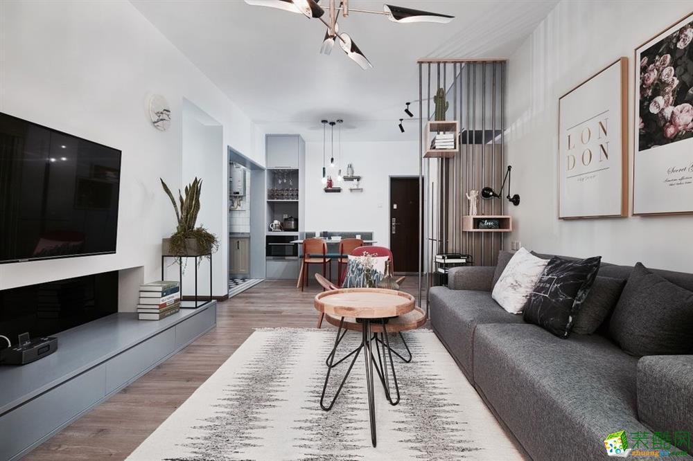 80平方简约休闲住宅,感受小户型的优质生活体验——专业翻新