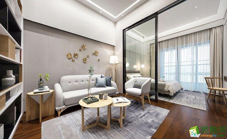 广州89�O三居室现代简约装修效果图