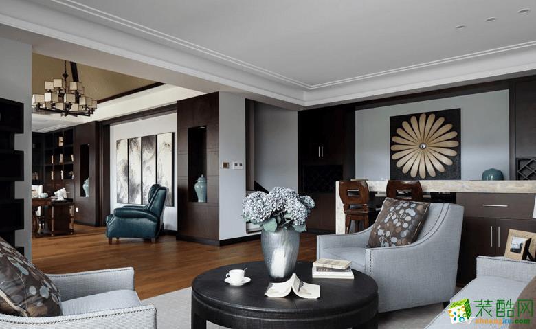 鲁能领秀城430平米中式风格别墅住宅设计效果图