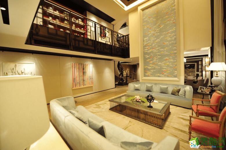 融汇半岛江山530平米中式风格别墅住宅装修效果图片
