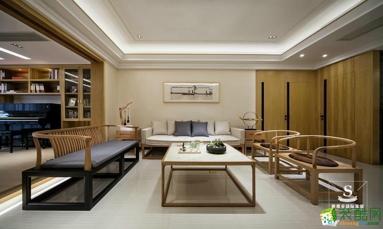 融景城朗峰106平米中式风格三居室设计案例