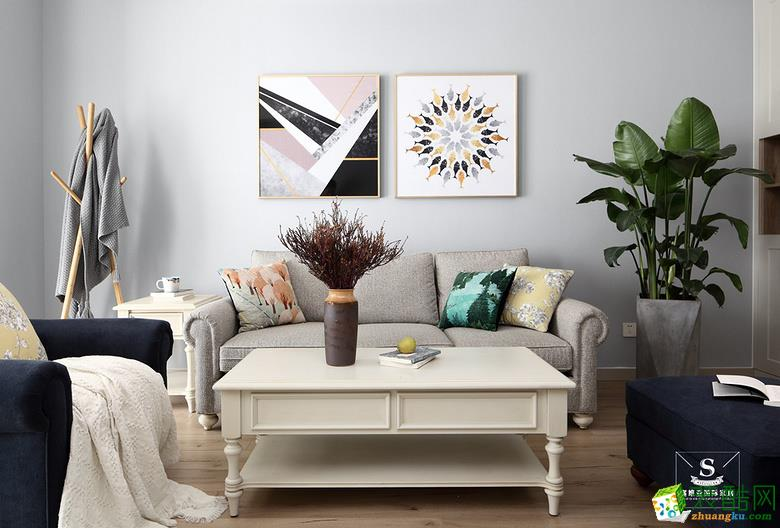 北大资源・燕南86平米现代风格两居室设计案例图片
