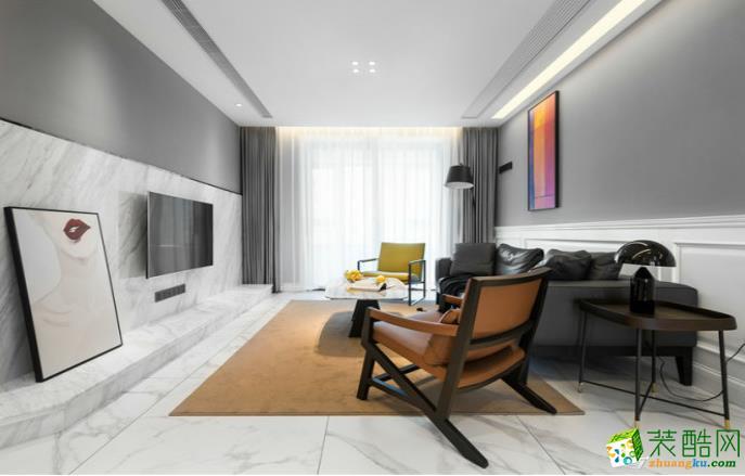 万州104平三室欧式风格装修效果图-交换空间装饰