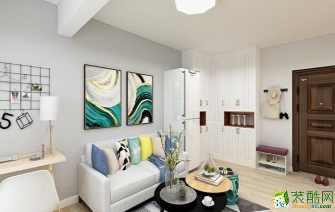 万州86平两室简约风格装修效果图-交换空间装饰