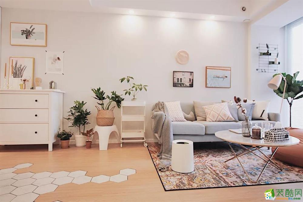欧鹏御府70平米中式风格两室两厅装修效果图片