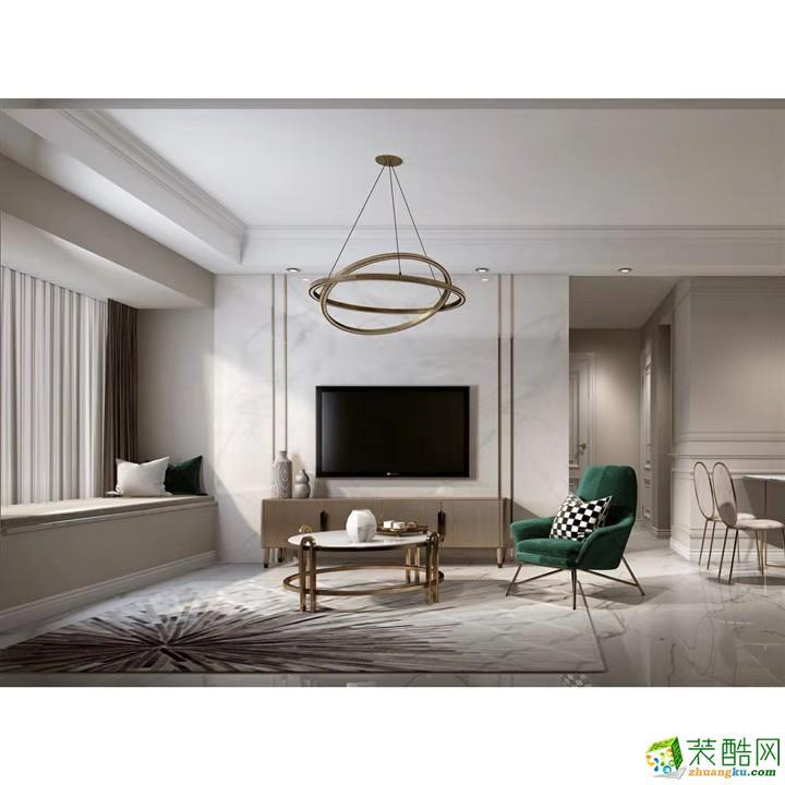 重庆89平米简约风格三居室装修效果图片