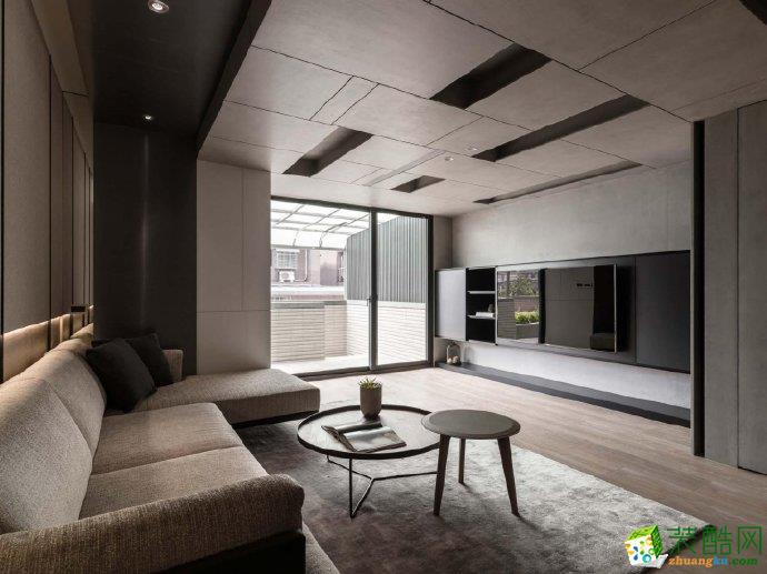重庆110�O现代风格三室两厅案例装修图片