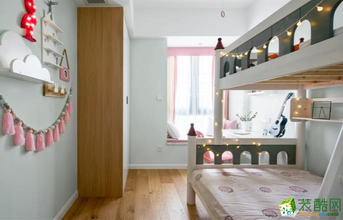 九江99㎡三室北欧风格装修效果图-源典装饰