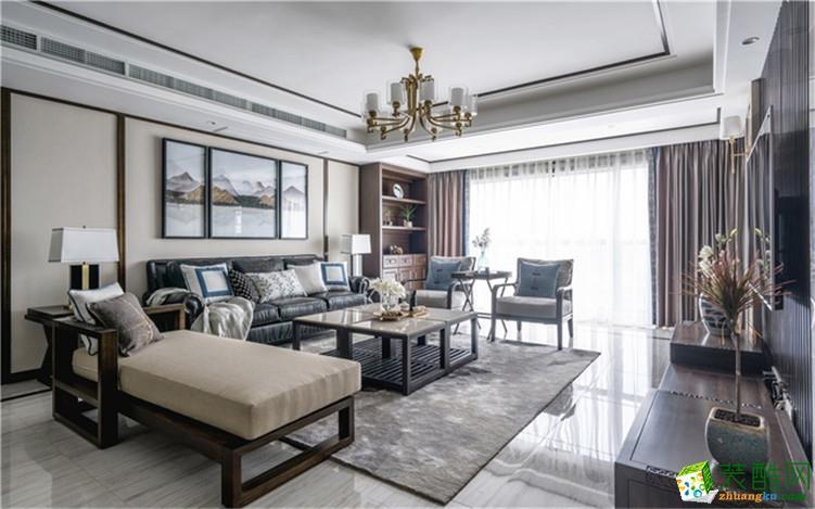 新中式四居室220平装修案例
