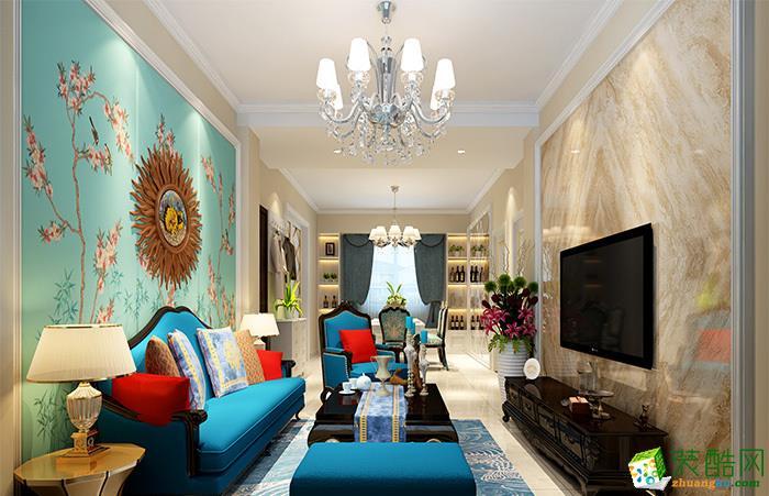 重庆65平米欧式风格两居室装修案例图片