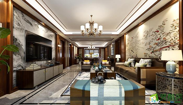 重慶230平米中式風格四居室裝修案例圖片